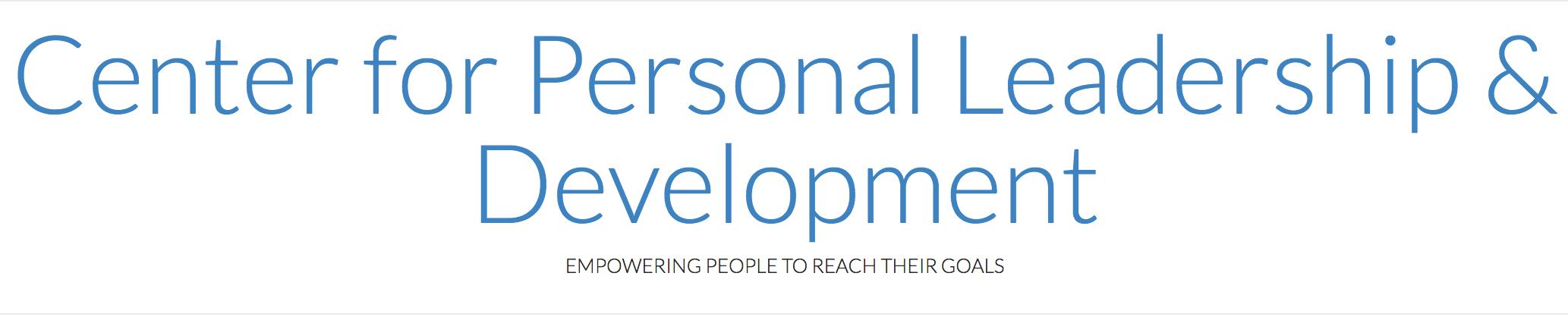 Center for Personal Leadership & Development